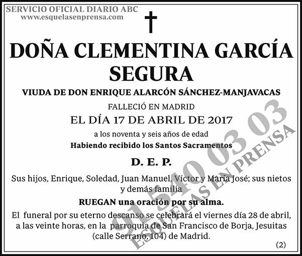 Clementina García Segura